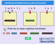 PROYECTO CANALS. Ley distributiva con regletas. Practicar la ley distributiva de la multiplicación utlizando regletas.