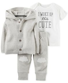 Carter's Baby Boys' or Baby Girls' 3-Piece Little Lamb Cardigan, T-Shirt & Pants Set