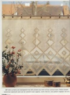 Bordado Popular, Ancient Persia, Brazilian Embroidery, Window Dressings, Cutwork, Stores, Cross Stitch Embroidery, Weaving, Curtains