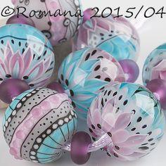 "Artisan Lampwork Beads by Romana - ""Caribbean Breeze"" #ArtisanLampworkBeads"