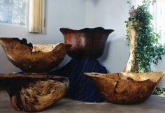 Sculpted Wood Bowls