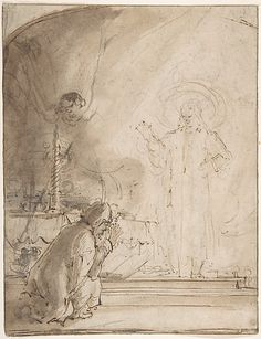 Rembrandt : Zacharias and the Angel