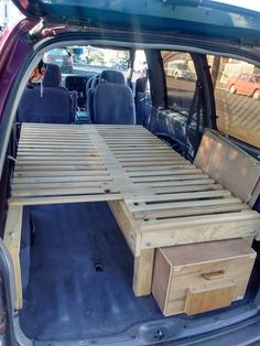 Van Double Bed with Sliding Extension. Perfect for camping