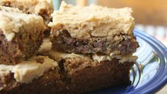 Oatmeal Cookie Bars with Peanut Butter Frosting
