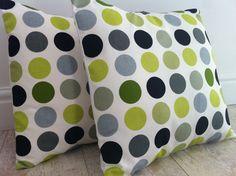 """£7.5 GBP - Prestigious Lime Black White Green Spot Design Scatter Cushion Covers 16"""" #ebay #Home & Garden"""