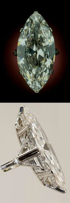 An Art Deco platinum and diamond ring, by Cartier, 1920-35. Featuring an…