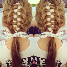 braid with ribbon
