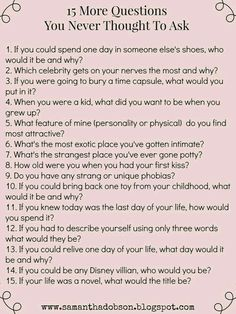date night questions you never thought to ask!More date night questions you never thought to ask! date night questions you never thought to ask!More date night questions you never thought to ask! Date Night Questions, Fun Questions To Ask, This Or That Questions, Questions To Get To Know Someone, Interesting Questions To Ask, Questions To Ask Your Boyfriend, Icebreaker Questions, Truth Or Dare Questions, Would You Rather Questions