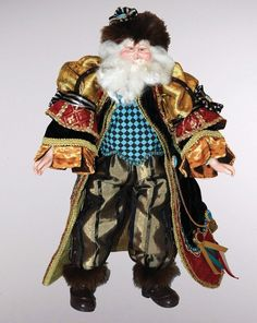 "Katherine's Collection Approx 18"" Woodland Renaissance Santa Claus Doll Free Ship"