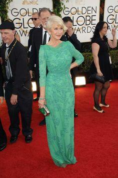 Helen Mirren. Golden Globes 2014 my fairy god mother
