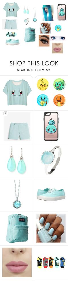 """Squirtle"" by giacozz ❤ liked on Polyvore featuring Loungefly, White House Black Market, Casetify, Rina Limor, Latelita, London Road, Vans and JanSport"