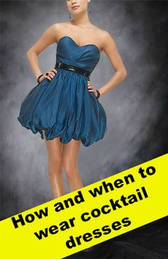 How do you wear a #CocktailDress, and where? Let this blog guide you as we discover more about these wonderful dress: http://www.outerinner.com/blog/2013/05/29/when-to-wear-cocktail-dresses/