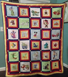 Disney quilt made using Brother embroidery machine Disney Diy, Disney Crafts, Applique Patterns, Quilt Patterns, Applique Ideas, Embroidery Ideas, Christmas Present Inspiration, Sewing Crafts, Sewing Projects