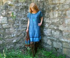 Silk  Cashmere Gypsy Kaftan Dress with by RubyChicOriginals