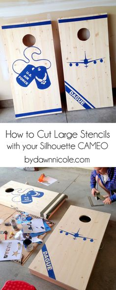 Learn How to Cut Large Stencils with Your Silhouette CAMEO in this week's Silhouette Saturday + a free cut file! | bydawnnicole.com