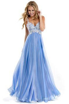 2014 Low Back Straps A Line Chiffon Prom Dress With Lace Bodice Online Store,Quality Guarantee, Affordable Price, Fast Delivery.