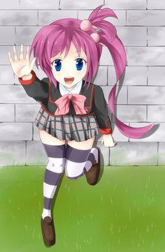 hey big bro i am here! ponytail and pink hair kawaii #animegirl