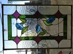 Stained glass morning glories - beautiful!
