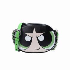 6162edd059 Moschino Powerpuff Girls Womens Small Shoulder Bag Black Small Leather Bag, Leather  Purses, Novelty