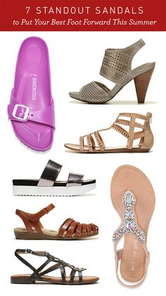Don't get stuck in the same pair of flip-flops all summer long. Think of the possibilities... office-ready, retro, flashy and trendy. Summer sandals are as diverse as we are, and your feet deserve a little fun in the sun! See our top picks to put your best foot forward this season.