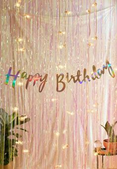 Shop Ginger Ray Iridescent Foil Happy Birthday Banner at Urban Outfitters today. We carry all the latest styles, colors and brands for you to choose from right here.