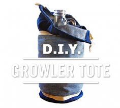 Give your old jeans a new life as a sturdy growler tote.