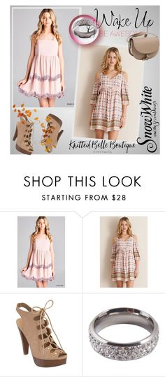 """""""Cold shoulder dresses"""" by ramiza-rotic ❤ liked on Polyvore featuring JODIFL, Entro, Lucky Star Jewels and knittedbelle"""