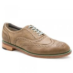 Charlie Women's Stone Grey Leather Brogues C1830 J Shoes
