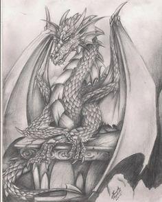 Dragon Art Dragon Zodiac, Demon Drawings, Dragon Sketch, Warcraft Art, Dope Art, Dragon Art, Fantasy World, Painted Rocks, New Art