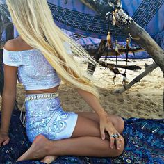 all you need for christmas is @_lilikoi, a fort made out of @bohemian_spirit_collective and a #LIBERATEDHEART set  this one is our ~coexist~ off shoulder crop & a-line skirt  oh and maybe a beach in hawaii
