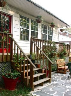 Flagstone patio.