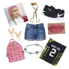 """""""Whenever...... Wherever"""" by mariposa68 ❤ liked on Polyvore featuring beauty, Topshop, NIKE, MAC Cosmetics, She's So, MCM, Aamaya by priyanka and Pandora"""