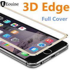 3D Aluminum alloy Tempered Glass Case Coque for iphone 6 6s / 7 Plus Full   Film Fundas For 5 5s se 5C Case Red