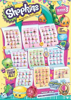Shopkins Free Downloads, coloring pages, checklists