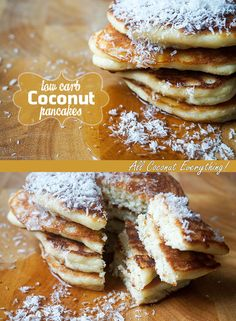 As much coconut as you could possibly fit into a pancake!