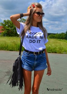 How to Chic: COCO MADE ME DO IT - WHITE TEE