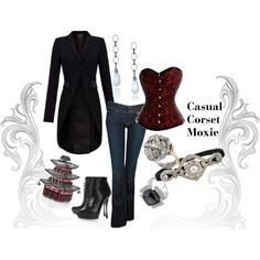 """Casual Corset Moxie"" by classiquecamille on Polyvore"