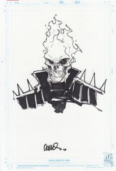 Humberto Ramos-Ghost Rider sketch Comic Art
