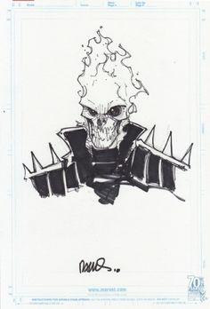 Humberto Ramos-Ghost Rider sketch Comic Art
