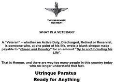 What is ??? What Is A Veteran, Ride Of The Valkyries, Parachute Regiment, Army Day, Royal Marines, Men In Uniform, Pegasus, Warriors, Best Quotes