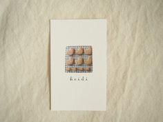 目黒のお菓子屋さん「おやつ屋 ハイジ」のショップカード - KAWACOLLE #card #design #japanese