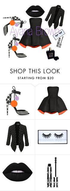 """""""Follow the dots"""" by ayanabrown on Polyvore featuring Pierre Hardy, Parlor, LE3NO, Lime Crime, Givenchy and Chanel"""