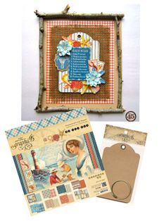Learn how to make this altered By the Sea canvas with a great tutorial from Maria! #Graphic45 #tutorials