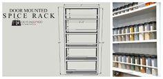 DIY Door Mounted Spice Rack