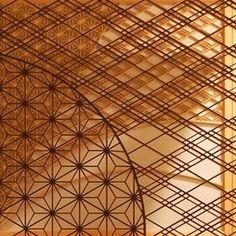 "Beautiful world of combination... traditional Japanese craft of ""Wood"", ""Kumiko""....まるで『木』のレース… 日本の伝統工芸『組子』の美しい世界:"