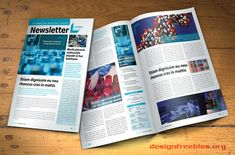 Free InDesign newsletter template: Design no. 2