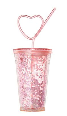 Valentine Loveletter glitter coldcup with Heart straw. Starbucks Korea February Straw is a heart-shaped and lovely gift. Pink heart in blue color. Unicorn Room Decor, Unicorn Rooms, Copo Starbucks, Girly Things, Cool Things To Buy, Unicorn Fashion, Cute Water Bottles, Kawaii Room, Cute School Supplies