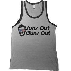 2df6bd061a9ed7 Suns Out Guns Out Tank Top - america usa 4th fourth of july abe lincoln  workout