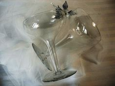 1940s Hollow Champagne Glasses set of 2 For by RareEarthProducts, $36.00