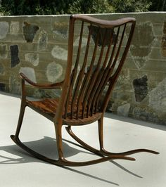 Lovely Outdoor Wooden Rocking Chairs